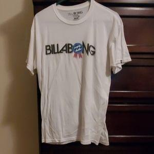 Large white billabong shirt